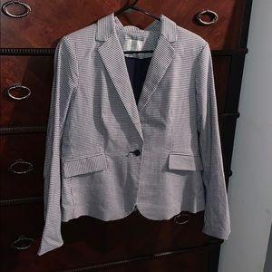 dalia  | navy blue checkered blazer